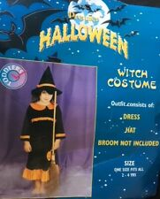 TODDLER GIRL WITCH FANCY DRESS COSTUME WORLD BOOK DAY AGE 2-4 NEW