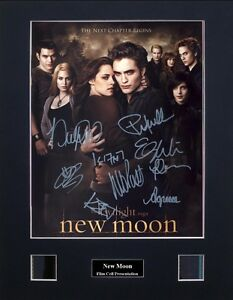 Twilight Saga - New Moon Signed by 8 Photo Film Cell Presentation