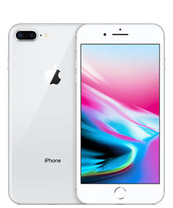 Apple iPhone 8 Plus 64GB 128GB 256GB Silver Unlocked GSM/CDMA/LTE Grades A/B/C
