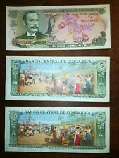 Lot of 3 Costa Rica banknotes UNC #20A60