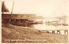 American Lake Washington Dancing Pavilion Real Photo Antique Postcard J56597