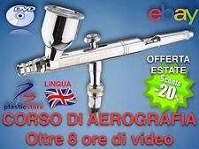 CORSO DI AEROGRAFIA Oltre 8 ore di video (2DVD) Airbrush Modellismo