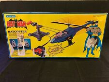 Blue-Box Toys 1989 BATMAN Battery Operated Remote Control BATCOPTER (Complete!)