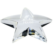 Personalised Engraved Crystal Glass Star Paperweight