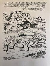 Yves Brayer Baux de Provence joli lithographie sur papier Arches 21x30 cm 1978