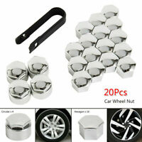 20Pcs 17mm Chrome Car Wheel Nut Caps Bolt Covers FOR Audi VW Vauxhall Bmw