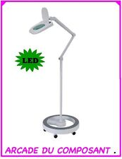 LAMPE LOUPE 5 DIOPTRIES ECLAIRAGE 64 LED + PIED ROND  (65-0776+81) Poids 18,4Kg