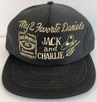 Vintage Rare Jack Daniels Whiskey Charlie Daniels Band Snapback Hat Beer