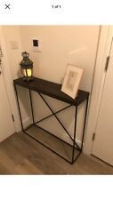 Industrial Metal Style Minimal Narrow Console Wooden Hall Table Modern Display