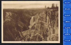 GREAT FALLS & LOOKOUT POINT, YELLOWSTONE NATIONAL PARK 1915 Mentor Gravure