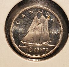 Canada 1963 10 Cents - Prooflike - Silver