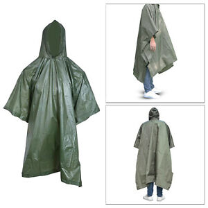Durable 3-in-1 Raincoat Rain Coat Camping Poncho Portable Ground Sheet With