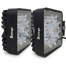 Safego 2X 27W LED WORK LIGHT Spot Beam Offroad Lamp 4X4 truck ATV UTE Fog 12V