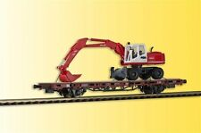 26258 Kibri H0 Low-sided Wagon With Atlas Wheel Excavators Finshed Model DC