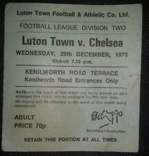 1976/77 original DIVISION TWO  match ticket LUTON TOWN v  CHELSEA