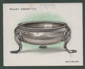 1749 Trencher Salt By London Silversmiths Mills and Sarbitt 1920s Ad Trade Card