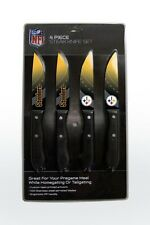 Pittsburgh Steelers Steak Knife Set - 4 Pack [NEW] NFL  Chef Kitchen Knives
