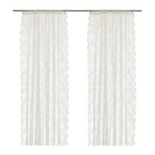 New Ikea Alvine Spets Lace Curtains, 1 Pair, Off-White, 57X98 ""