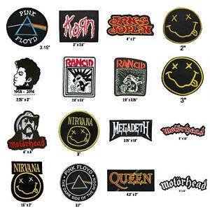 Pink Floyd Queen Rancid Prince Nirvana Motorhead Motorhead Lemmy Iron On Patch