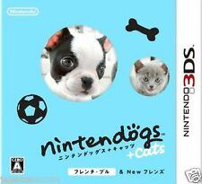 Used nintendogs + cats French Bull & NEW FRI NINTENDO 3DS JAPANESE  IMPORT