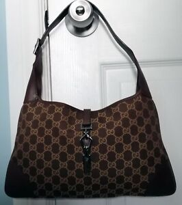 NEW CONDITION  Authentic  GUCCI  GG Monogram   JACKIE O BOUVIER  HOBO BAG