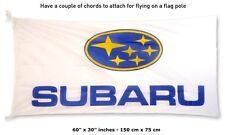 Big NEW SUBARU LOGO White FLAG BANNER SIGN 30x60 inches impreza wrx xv forester