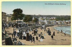 Vintage Printed Postcard,THE CHILDREN'S CORNER, ROTHESAY.    302D