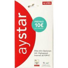 O2 & E-Plus - Ayyildiz- Ay Yildiz - AyStar-10 ? Guthaben - Prepaid SIM Karte