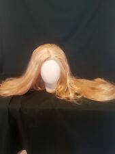 Blonde Long Gothic Rapunzel Princess Wig Cosplay Gaga Fancy Dress