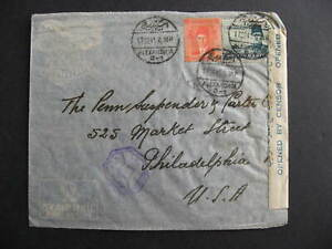 Egypt WWII censored cover to USA