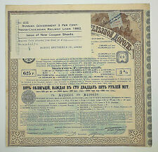 RUSIA G/1 RUSSIAN GOVERNMENT 3% CENT-TRANS-CAUCASIAN RAILWAY LOAN 1882