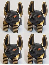 Lego Anubis Warrior Jackal Head x 4 for Minifigure