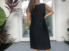 Valerie Stevels Pure Silk Black Sleeveless Dress Size 4