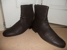"""APC QUALITY ALL LEATHER SNACKS PRINT LEATHER HI ANKLE BOOTS SIZE UK 8""""EUR 42"""