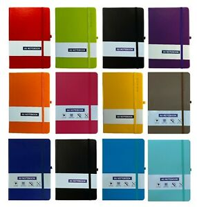 A5/A4/A6 New Hardback Lined Notepad Notebook  Notes Journal Diary School Home