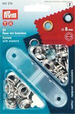 Prym Ösen mit Scheiben 8mm Silber