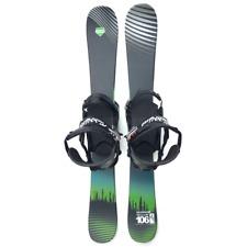Summit GroovN 106cm Skiboards Snowblades 2020 + Custom Snowboard Bindings Riser