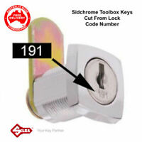 SIDCHROME Lost Your Toolbox,Toolchest / Cabinet Keys? Keys Cut From Lock Code