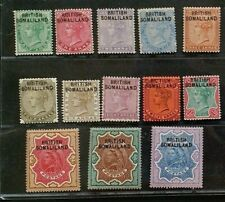 SOMALILAND 1903 Queen Victoria 1/2a to R5 SG 1 - 13 Sc 1 - 13 optd set 13 MLH/MH