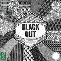 Black Out First Edition Paper Pad 12 x 12 - 48 Sheets Scrapbooking Card Crafts