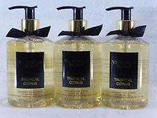 3 Tropical Citrus Hand & Body Cleansing Gel Victoria's Secret 10 Oz