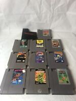 Nintendo NES Game Lot Of 10 Action Sport And Arcade Games
