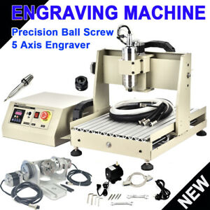 USB 800W 5 Axis 3040 CNC Router Engraver Drilling Milling Machine + Handwheel