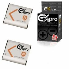 2 x Ex-Pro Replacement Battery NP-BN1 NPBN1 for Sony Cameras