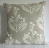 "Laura Ashley Chiltern Natural Flowers Taupe 16"" Cushion Cover"