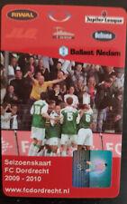 Sammler unused Seizoen Club Card 2009/2010 FC Dordrecht