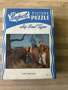 """Perfect Picture Puzzle """" I GOT MINE DAD"""" Over 250 Pieces"""
