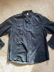 Firetrap Mens Black Casual Shirt XXXL