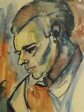 E. E. Deutsch Krone (1910-c.2000) Aquarell 1952: FERDINAND NACHDENKLICH -Ehemann