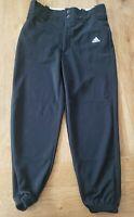 ADIDAS Boys Baseball Black Climalite Snap Front Pants Size MEDIUM